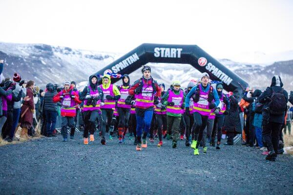 Particpants in the 2017 Spartan Race at the starting line in Hveragerdi Iceland.